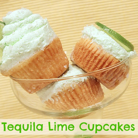 Tequila Lime Cupcakes { 21 and up } for #SundaySupper