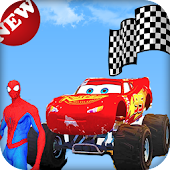 Spider Car Race Icon