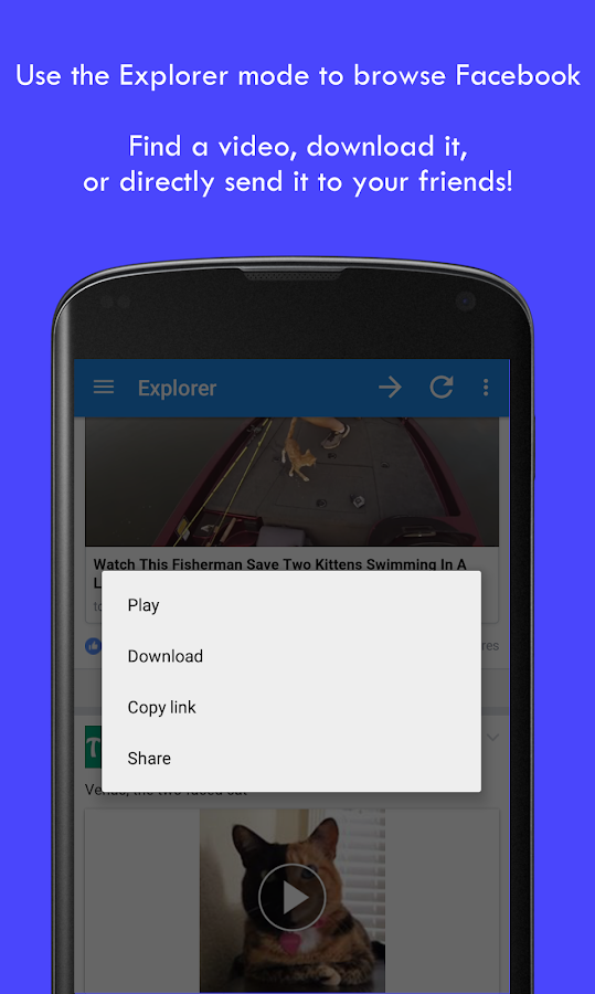 MyVideoDownloader for Facebook Screenshot 1