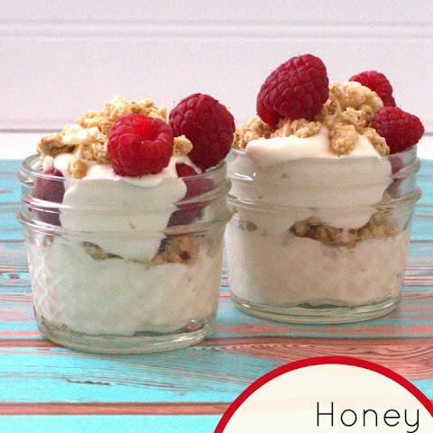 Honey Raspberry Muesli Yogurt Parfait