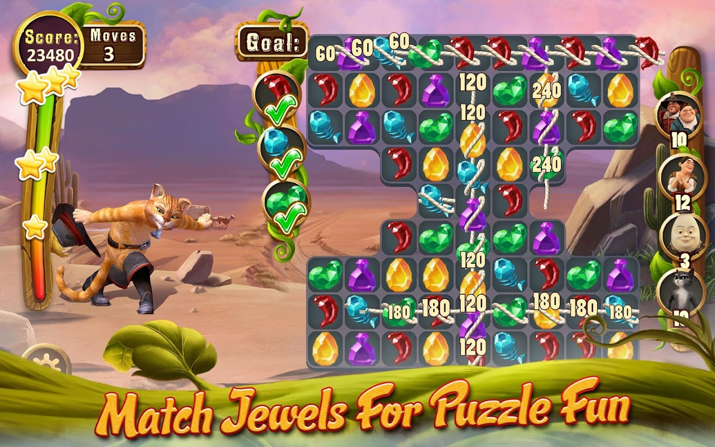 Puss In Boots Jewel Rush Screenshot 13