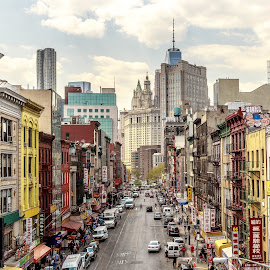 East Broadway in Chinatown by Lou Plummer - City,  Street & Park  Street Scenes ( street, nyc )