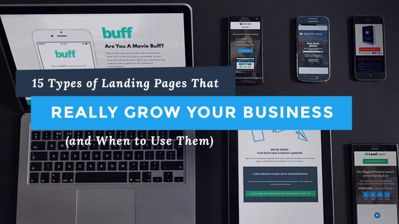 15 Types of Landing Pages That Really Grow Your Business (and When to Use Them)