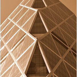 Sepia New York by Denny Paul - Buildings & Architecture Architectural Detail ( manhattan skyline, color, street, architectural detail, new york )