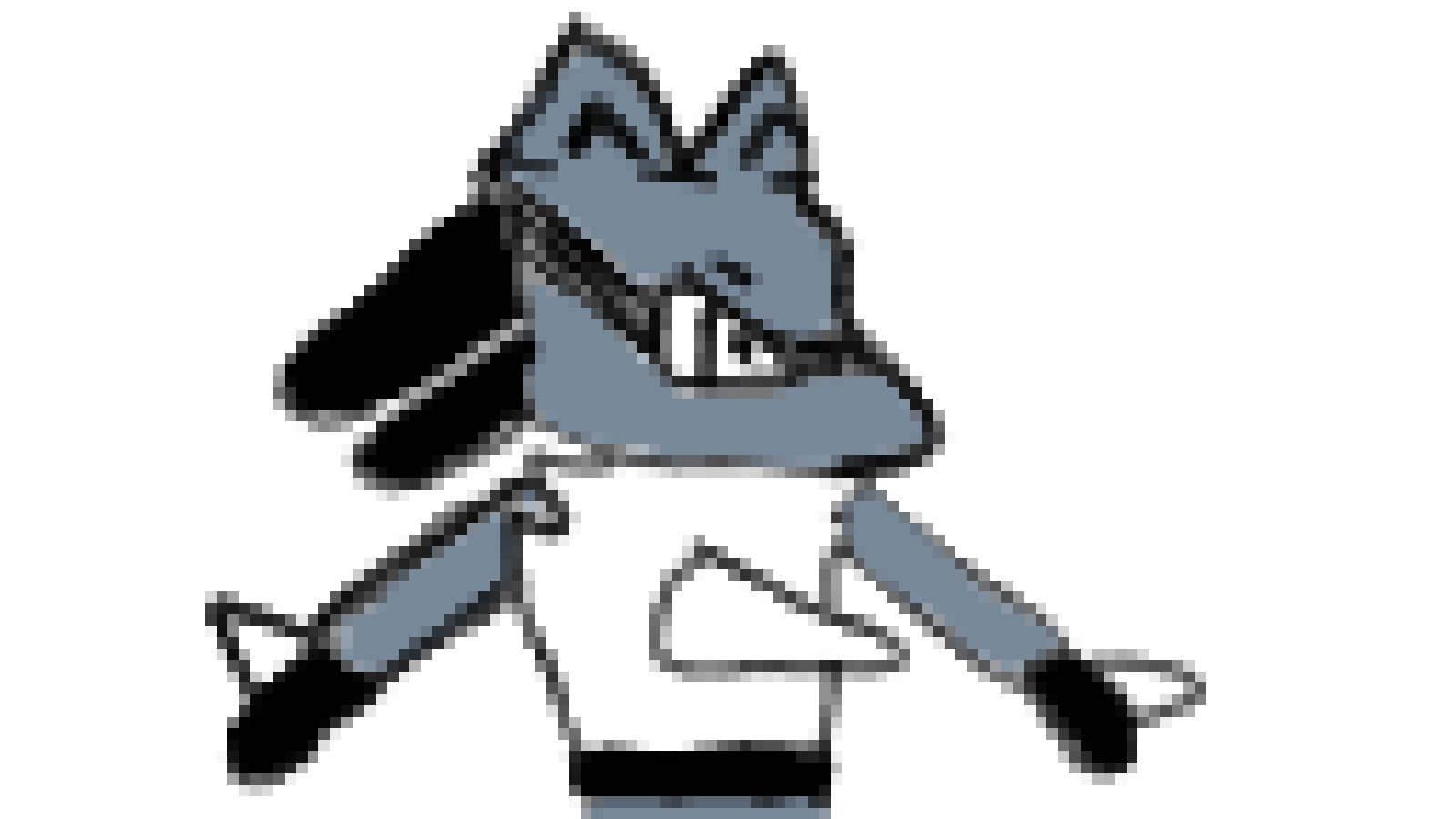 Lucario (Pokemon) Drawing Attempt