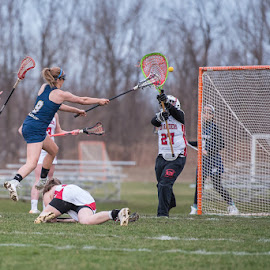 Leaping Goal!! by Keith Kijowski - Sports & Fitness Lacrosse ( wayne eagles girls lacrosse varsity pal mac )