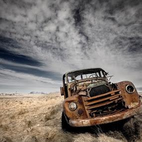 Volvo by Bragi Ingibergsson - Transportation Automobiles ( car, iceland, brin, automobile, bragi j. ingibergsson, volvo, landscape )