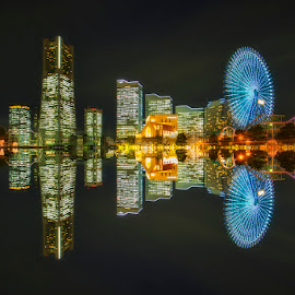 Minato Mirai by Nyoman Sundra - City,  Street & Park  Amusement Parks ( japan, amusementpark, nightshot, minatomirai, nightscenary, sakuragicho, yokohama, city )