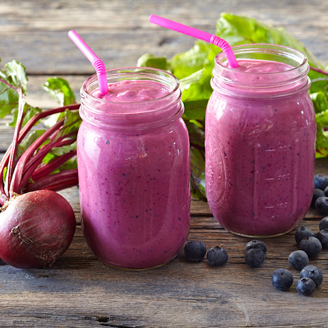 Berry Beet Tofu Smoothie