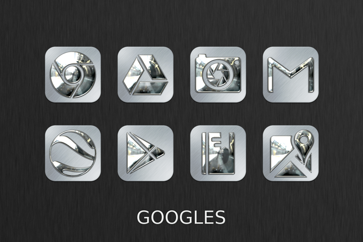 Silver Chrome Icon Pack Screenshot 0