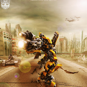 Bumblebee by Fazrul Mustaqim - Digital Art Things ( transformer, robot, photoshop )