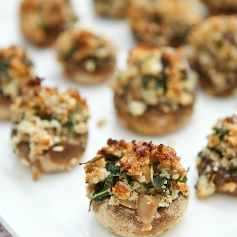 Walnut and Blue Cheese Stuffed Mushrooms