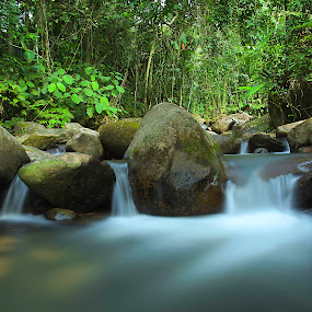 the motion by Mohd Shahrizan Taib - Landscapes Waterscapes ( nd400, zuiko lens, waterfall, long exposure, tripod, rocks, olympus )