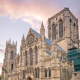 York Minster by Darrell Evans - Buildings & Architecture Places of Worship ( sky, glass, gothic, ornate, yorkshire, old, historical, heritage, clouds, carving, building, stone, outdoor, christian, uk, york, minster, window, no people, cathedral, architecture )