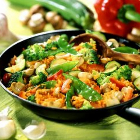 Weight Loss. Rice with vegetables
