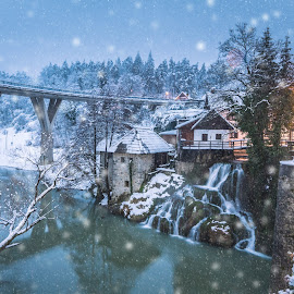 Magic vistats by Vedran Bozicevic - City,  Street & Park  Vistas ( vistas, winter, waterfal, snow, croatia )