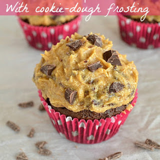 Brownie Cupcakes With Cookie-Dough Frosting + A CHARM IT Giveaway!