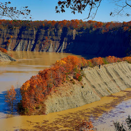 Hogsback Overlook by Cal Brown - Landscapes Caves & Formations ( letchworth, genesee river, fall colors, autumn, state park, canyon, new york, valley, landscape, formation )