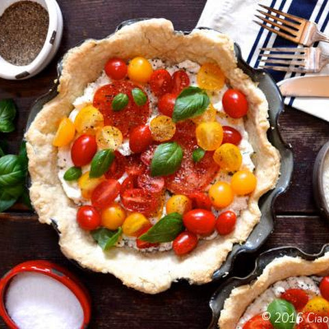 Tomato Pie-Tart with Ricotta & Fresh Basil
