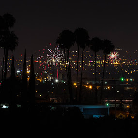 fireworks by John Brock - Public Holidays July 4th ( lights, night photography, fourth of july, fireworks, cityscape )
