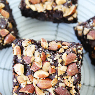 Almond Toffee Sea Salt Brownies