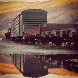 After the Rain by Perla Tortosa - Transportation Trains