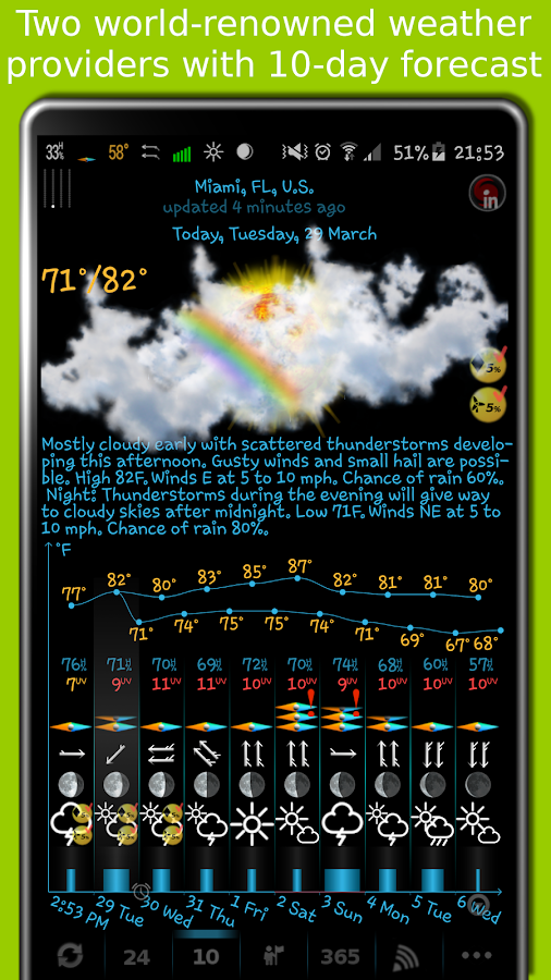 eWeather HD - weather, air quality, alerts, radar Screenshot 2
