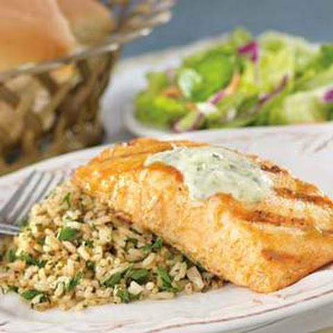 Publix Apron's Mustard and Brown Sugar Salmon With Herbed Rice