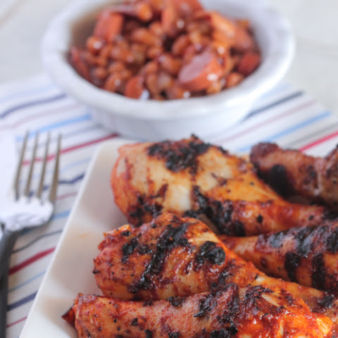 Garlic Lime Taco Grilled Chicken Drumsticks