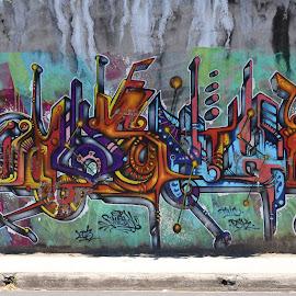 Costa Rican Graffiti by John Gore - Typography Words (  )