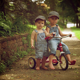 Bros. yester years by Scott Koukal - Babies & Children Child Portraits