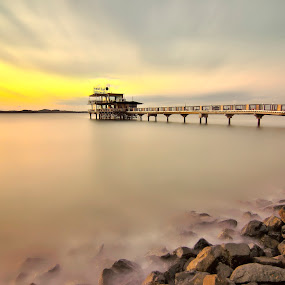 Silent by Irwansyah St - Landscapes Beaches ( sunset, sunrise, beach, bridge, landscape )