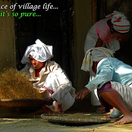 essence of village life by Asif Bora - Typography Quotes & Sentences