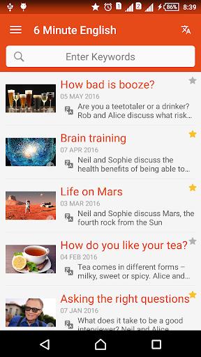 6 Minute BBC Learning English & English Listening screenshot 1