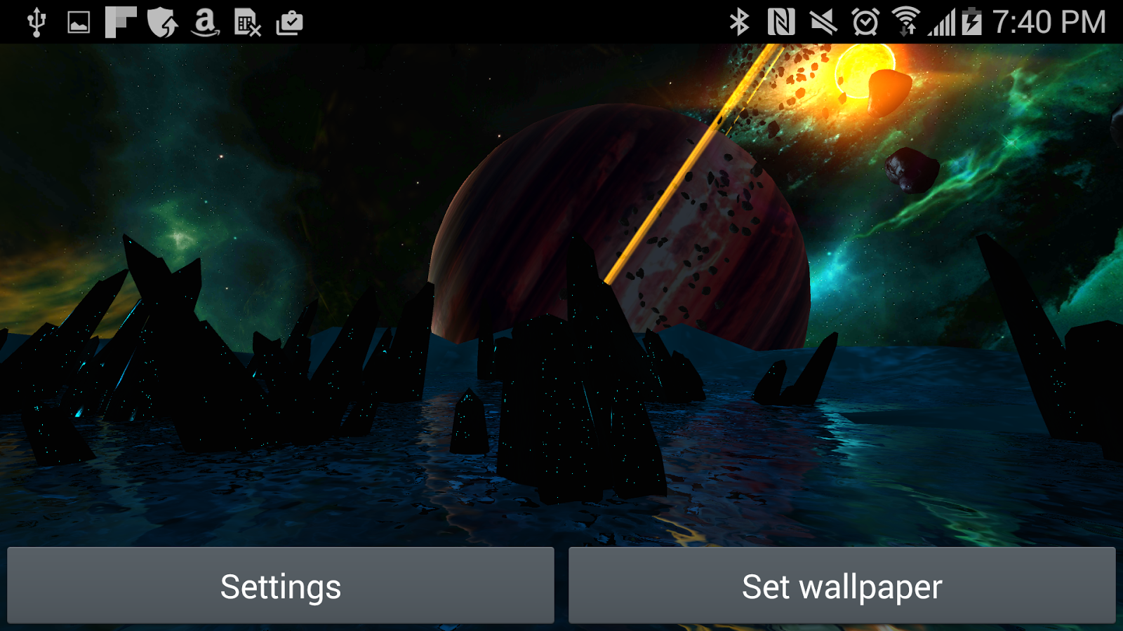 Far Galaxy 3D Live Wallpaper Screenshot 15