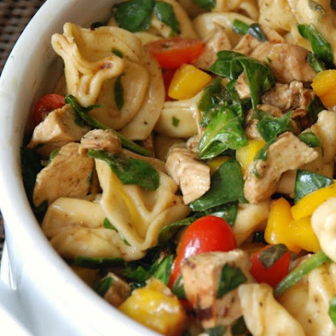Balsamic Chicken Spinach and Tomato Pasta Salad
