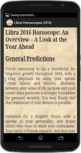 Libra Horoscope 2016 - screenshot