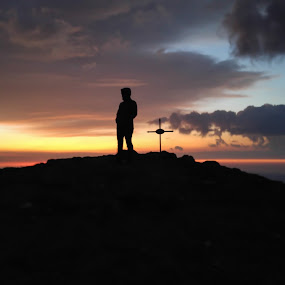 On the top by Jean Bogdan Dumitru - Landscapes Sunsets & Sunrises ( sunset, hike, evening )