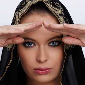 Arabian Beauty by Ulysses Caronongan - People Portraits of Women