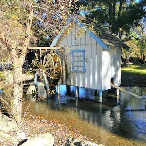 Water wheel at Casa de Fruta by Pam Jones - Travel Locations Landmarks ( california, casa de fruta, water wheel, travel )