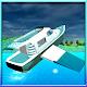 Flying futuristic Yacht Boat