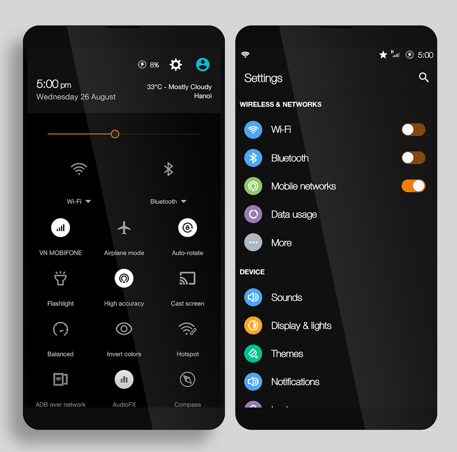CM12.x/CM13 MIUI Dark Screenshot 2