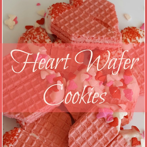 Cute Heart Wafer Cookies