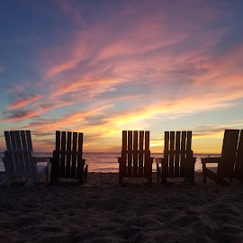 Soft Lies by Chelsea Mason - Artistic Objects Other Objects ( sky, pink, michigan, beach, sunset,  )