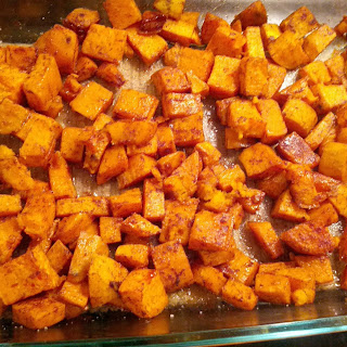 Roasted Spiced Sweet Potatoes