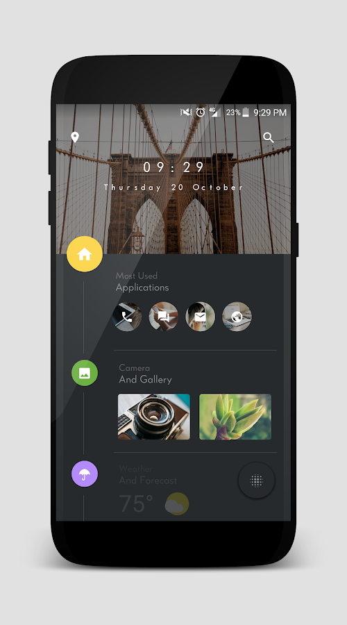 TimelineHome for KLWP Screenshot 3