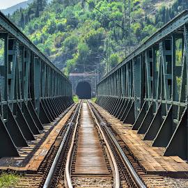 Train bridge by Bojan Kuburovic - Buildings & Architecture Bridges & Suspended Structures ( montenegro, rails, travel, bridge, construction, tunnel )