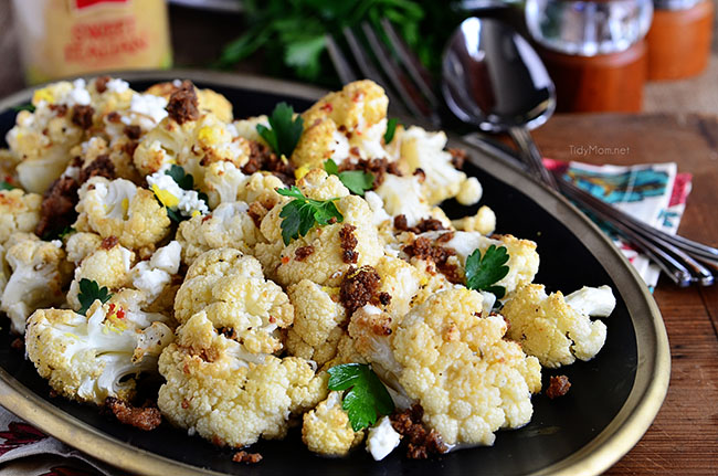 Roasted Cauliflower with Brown Butter & Garlic Crumbs Recipe | Yummly