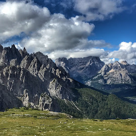 Morning  by Mario Horvat - Instagram & Mobile iPhone ( clouds, mountains, sky, italia, green, beautiful, dolomites, italy, panoramic )