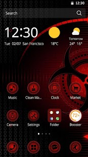 App Red Technology 3D Theme APK for Windows Phone